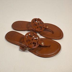 Tory Burch Miller Leather Logo Sandals Women 10.5